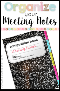 Organize Meeting Notes