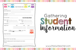 Collecting Student Information