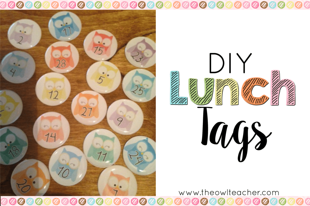 DIY Lunch Tags