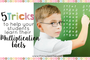 Help your students become fluent with their multiplication facts with these 5 tips and tricks! Plus there is a math game freebie!