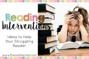 Reading Intervention Ideas