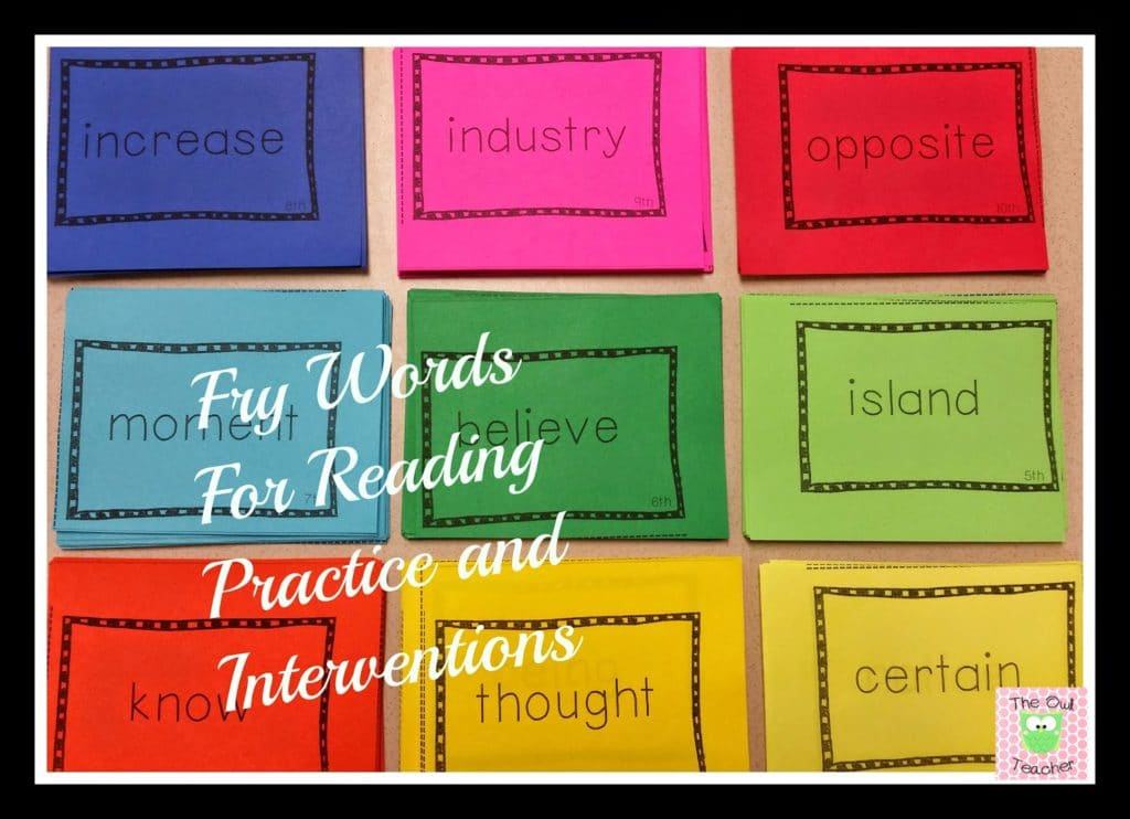 Reading interventions for RtI