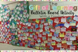 Gift of Learning Bulletin Board