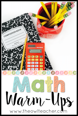 Fun and easy math warm ups for your elementary math classroom. Easy to set up and challenging for some kids! Great for morning work or before starting your math lessons! Your students will LOVE these!