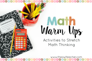 Using Math Warm Ups