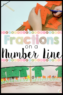 Make teaching number line fractions hands-on and fun with this elementary activity idea! It also makes a great fraction display!