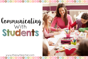 Communicating with Students