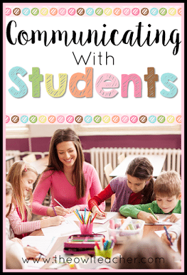 Check out these five ideas on how to communicate with students! These communication tips will help your classroom management techniques be more positive and inviting!