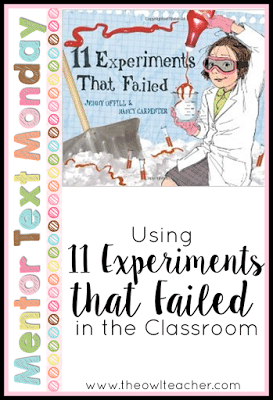 Teaching science with this mentor text is a great way to start off teaching about the scientific method and experiments! Check out the details for this book on this post!
