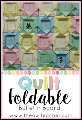 This foldable activity can be used for any idea in the elementary classroom and makes a beautiful display on a bulletin board - like a quilt! Plus- it's engaging for students! Check out this step by step tutorial!