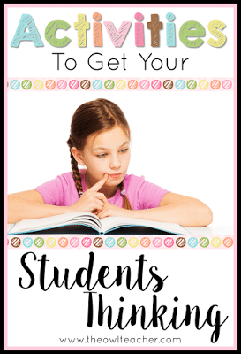 Your students will LOVE these thinking strategies for any subject area you teach in your elementary classroom! Check these strategies and ideas out here!