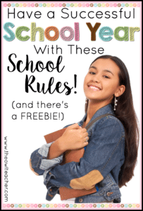 Start your school year right and have fantastic classroom management with these rules!  This activity and idea will help set the rules for back to school - and there's a FREEBIE!