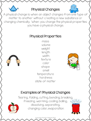 Physical and Chemical Changes for Physical Science
