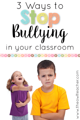 3 Ways to Stop Bullying in Your Classroom! These classroom management tips can be used to help you prevent bullying and change student behavior!