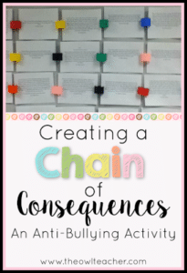 Chain of Consequences:  Writing to Prevent Bullying