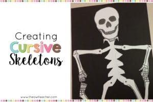 Cursive Skeleton Craft for Halloween Fun