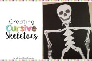 Cursive Skeleton Craft for Halloween Fun