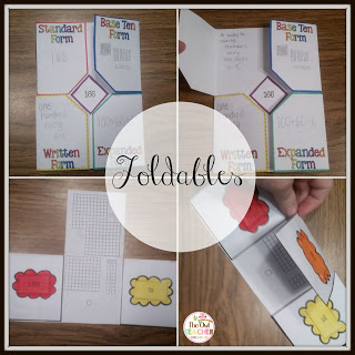 place value rounding foldables games