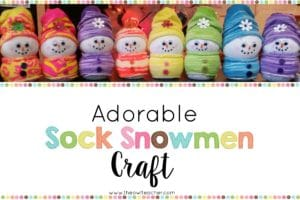 The Perfect Snowman Craft – From Socks!