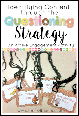 Children love to ask questions... so why not engage your students with this active engagement strategy of asking questions!  Check out this idea for helping review content through the questioning strategy!