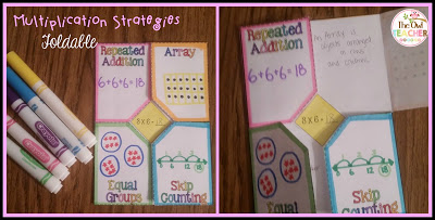 Multiplication strategies for math workshop hands on foldables