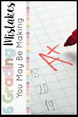 6 Grading Mistakes You May Be Making! Yes- six! Are you managing your gradebook correctly or are you making these mistakes? (I hope not- especially mistake #6!) Check out these tips and ideas about grading practices in your classroom!
