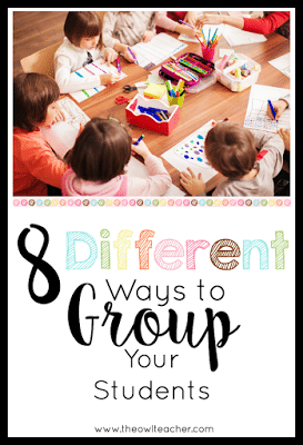 I'm tired of my students always picking the same friends when it comes to group work- so here are 8 different ideas for you (and me!) on how to group the students in your classroom so that you can have cooperative learning and get some teaching done! Classroom Management | Cooperative Learning Strategies