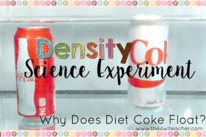 Why does Diet Coke Float and Regular Coke Sink?