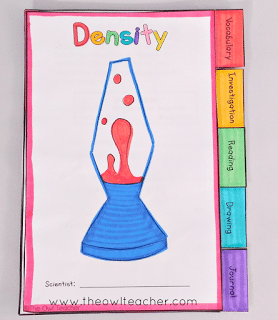 Teach density with this engaging science experiment activity of creating homemade lava lamps! Students will love this idea and it all comes with a free lesson to get this science center started!