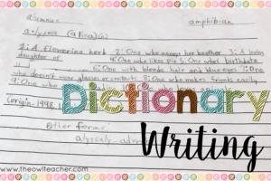 Dictionary Writing Fun!