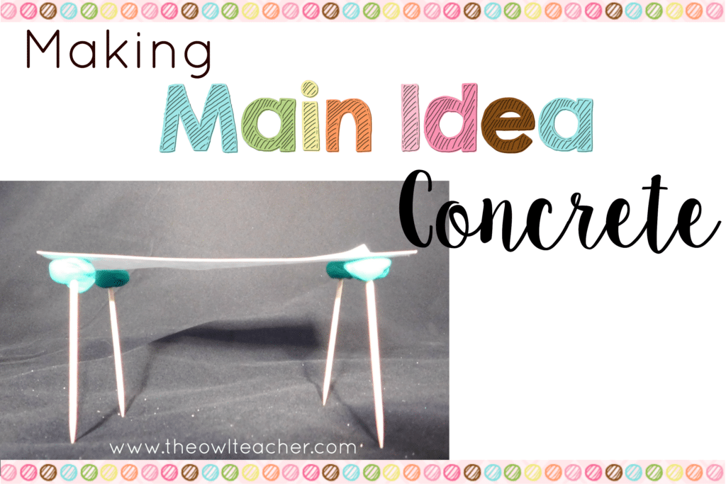 Making Main Idea Concrete