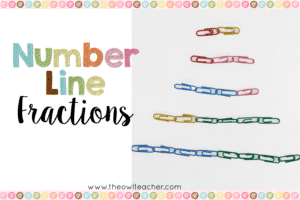 Teaching Number Line Fractions (with a freebie!)