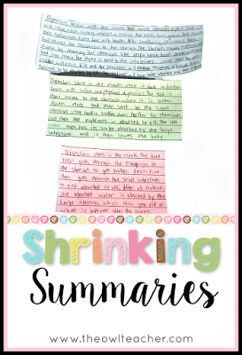 Teaching students to write good summaries in reading or any subject matter can be packed full of unrelated details. Check out this idea on how to get students to retell and write only the main idea!