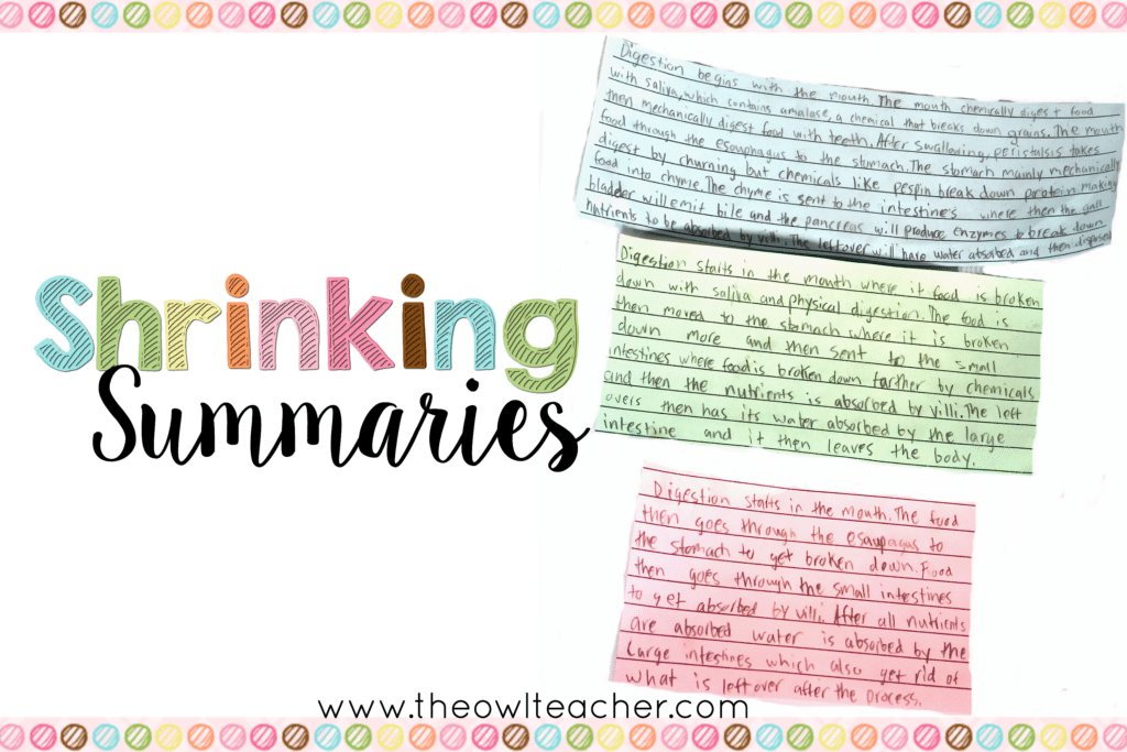 Shrinking Summaries