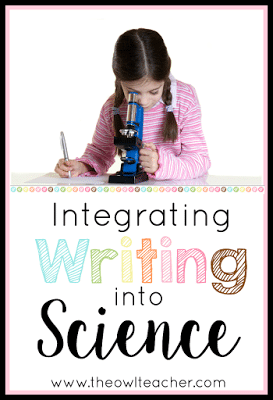 There's a constant push on teachers to create interdisciplinary lessons, especially in order to cover more academic standards. This post shares five ways to integrate writing into your science class, so click through to read all of the ideas!
