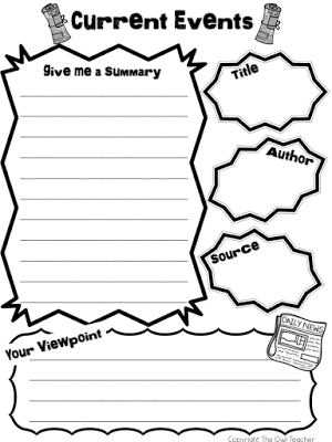 Reading and writing about current events is a great way to keep students informed of what's going on in the world around them while simultaneously practicing academic skills. This blog post provides a strategy for upper elementary students to learn about current events, and a freebie is included!