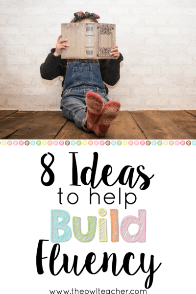 Although it may not seem like it, reading fluency is incredibly important for comprehension. If students cannot read fluently, then their ability to comprehend what they read is impeded. This blog post shares eight ideas to help build fluency in your students, so click through to get all eight of them!