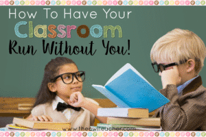 Classroom management is always important, but if you really drive home your procedures and routines, then it's possible to have your classroom manage itself! I was running late to work one day, and my neighboring teacher covered my room for the few minutes that I was late. She raved on and on about how my students and classroom ran without me. So, learn my few tips to help you accomplish this with your classroom, too!
