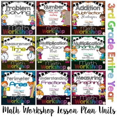 3rd Grade Math Workshop Units for the Entire Year