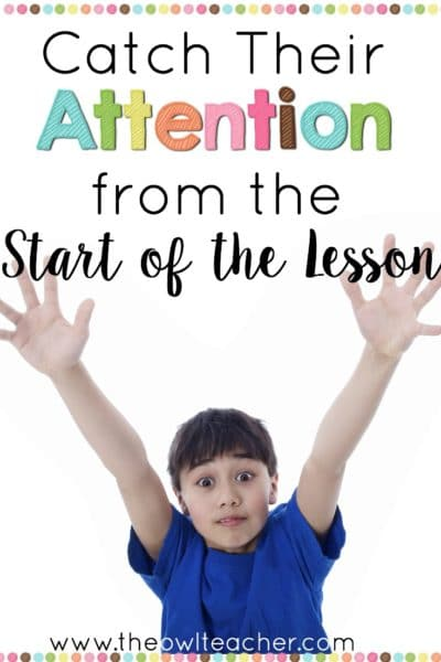 The unfortunate truth is that teachers today are competing with electronics in order to get students' attention in the classroom. This is a tough obstacle to be up against! To try help my fellow teachers start their lessons out strong, I'm sharing 20 ways to catch their attention in this post.