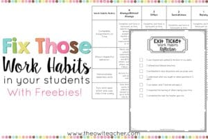 Fix Those Students' Work Habits!