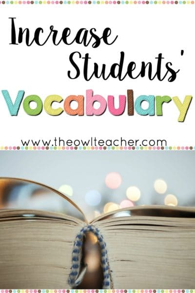 A child's socioeconomic status highly influences his or her vocabulary attainment, but regardless of that, you should use a variety of ways to increase your students' vocabulary. I share several ideas in this post, and I've included a free chart that you can download, as well!