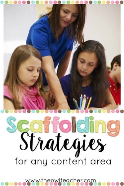 As I've written previously, scaffolding your instruction can feel daunting and overwhelming. However, in this post I provide a list of authentic scaffolding strategies that you can start using immediately to help you meet the needs of all of your learners!