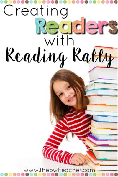 Reading Rally is a school-wide reading event that allows students to rotate from one classroom to the next in periodic intervals. The teachers can decorate their classrooms with fun themes, and the students get to read for a short period of time in each themed room. It's a fun way to encourage reading, so read how it works in this post!
