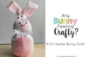 Any Bunny Feeling Crafty? (Easter Bunny Craft)