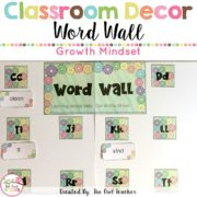 Growth Mindset Editable Word Wall {K-3rd Grade Dolch Words Included} Growth Mindset Editable Word Wall {K-3rd Grade Dolch Words Included}