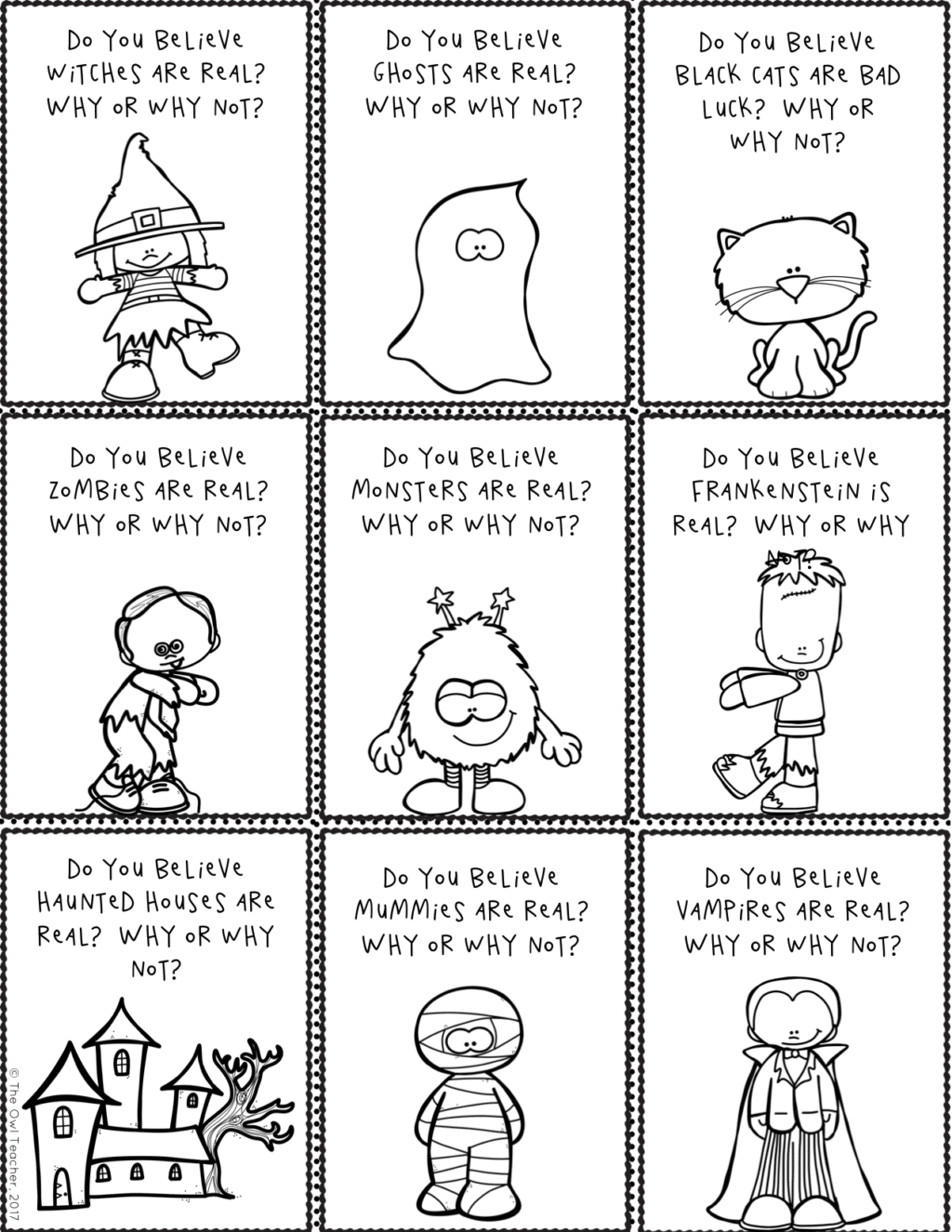halloween writing prompts and story starters the owl teacher halloween writing prompts and story starters