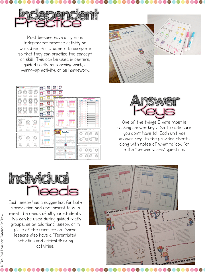 3rd Grade Math Workshop Bundle - The Owl Teacher
