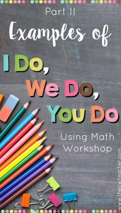 "Are you looking for examples of ""I do, we do, you do"" but just haven't found them yet? Maybe you have heard of this style of teaching but just are sure of what it looks like in practice. This blog post fills you in with examples using both classroom and lesson plan examples, and provides you with a freebie to get started!"