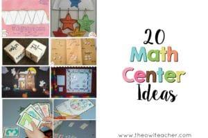 20 Math Center Ideas